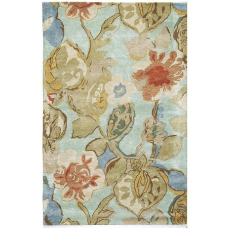 balcony rug home decorators collection balcony sea foam 8 ft x 11 ft area rug 0110730310 the home depot