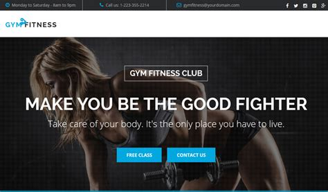 Gym Fitness Best Landing Page Template For Sports And Workout Olanding Fitness Landing Page Templates