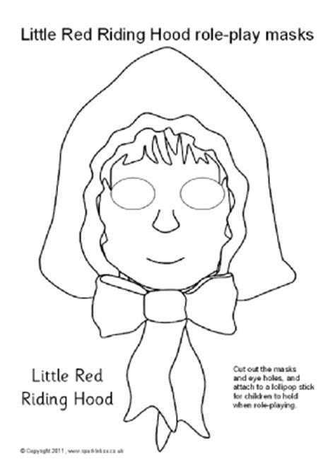 printable masks for little red riding hood eyfs ks1 printable fairytale roleplay masks sparklebox