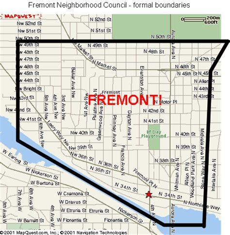 seattle map fremont council boundaries map fremont neigborhood council