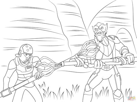 star wars ezra coloring page coloriage zev orrelios dans star wars rebels