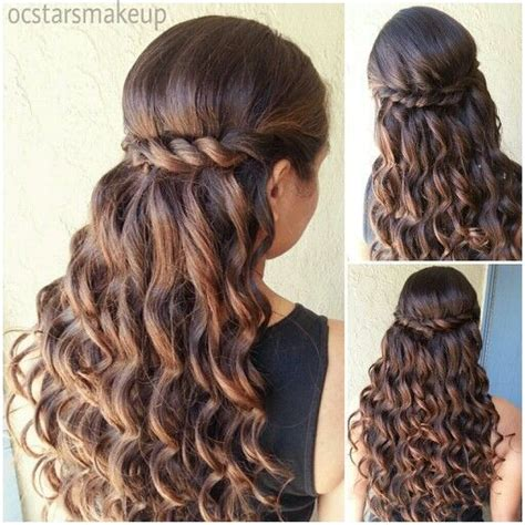 Hairstyles For Quinceanera Damas by Quinceanera Hairstyles With Curls And Tiara Hair