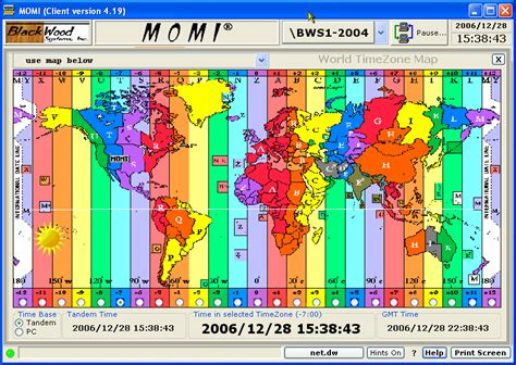 world timezone map