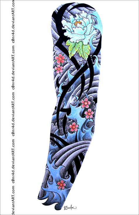 tattoosketch sleeve01 by c0nr4d on deviantart