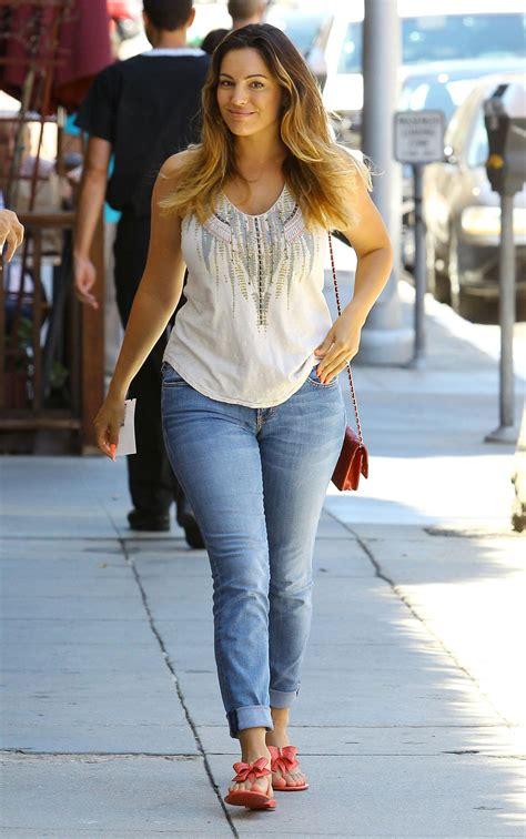 kelly brook street style booty  jeans los angeles july