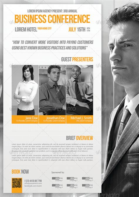 templates for conference flyer business conference flyer template 07 by petumdesign