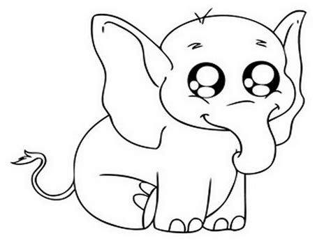 Big Coloring Pages baby elephant coloring pages to and print for free