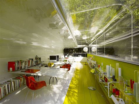 selgas cano architecture glass office makes employees feel like they re in the middle of the woods