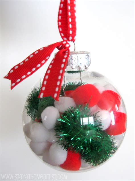 stayathomeartist com pom pom christmas ornaments