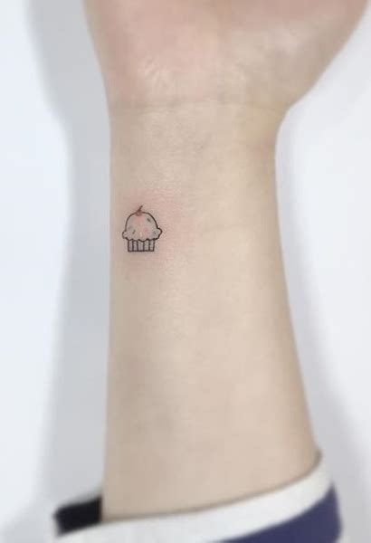 small cupcake tattoo 75 more small ideas from playground crestfox
