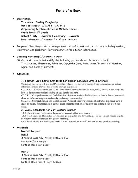 reference book lessons parts of a book worksheet get quiz worksheet parts