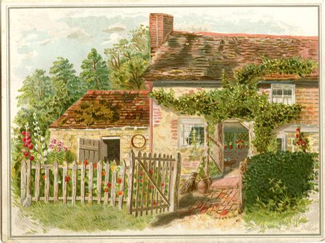 vintage birthday image charming cottage the graphics fairy