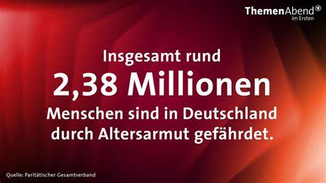 wann sind die nächsten wahlen in deutschland bilder altersarmut zahlen und fakten themenabend armut