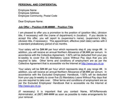 Transfer Letter With Promotion transfer offer letter 7 sles in word and pdf