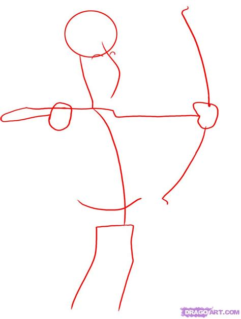 how to drawl a how to draw an archer step by step sports pop culture free drawing tutorial