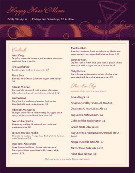 bar menu template bar menu design musthavemenus