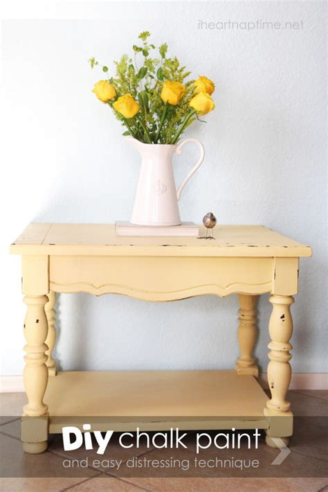 pinterest pictures of yellow end tables with gray how to make chalk paint pictured tutorial