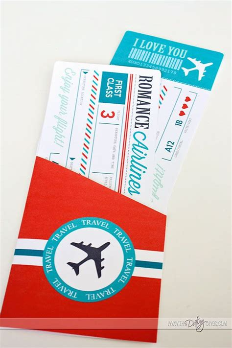 Plane Ticket Gift Card Template by Passport To Craft Gift And Paper Anniversary Gift