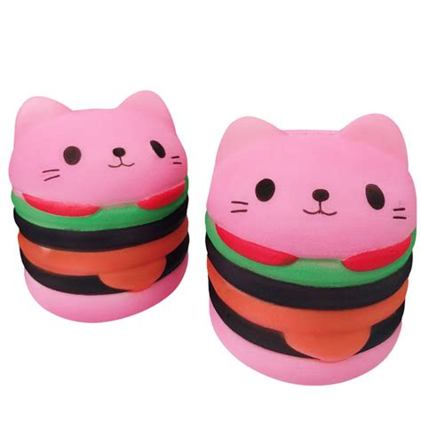 Soft And Slowrise Squishy Jumbo Connie us kawaii squishies soft bread squishy cat rising stress reliever ebay