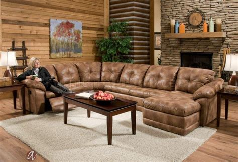 Albany Upholstery by 3182 Reclining Sectional Sofa In Almond Leatherette By Albany