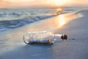 man finds message in a bottle on the jersey shore