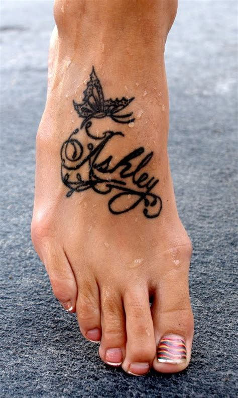 name tattoos on feet designs any thing name tattoos