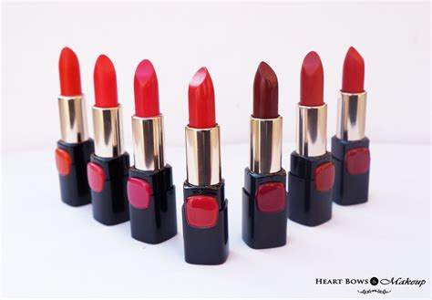 Lipstik Loreal l oreal collection lipsticks review swatches price india bows makeup