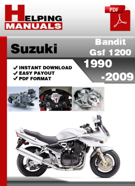 Suzuki Bandit 1200 Service Manual Helping Manuals Suzuki Bandit Gsf 1200 1990 2009 Service