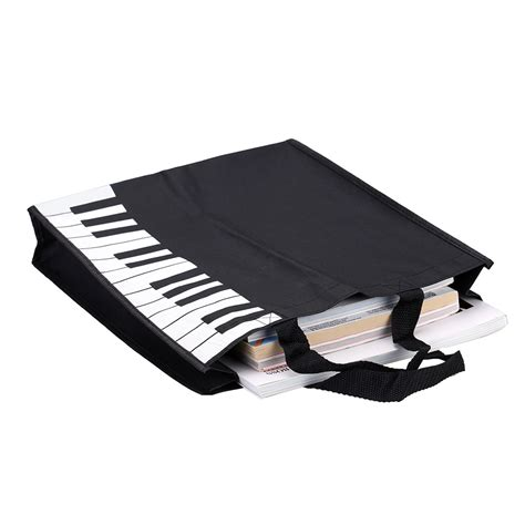 pattern piano and keyboard review durable piano keyboard pattern handbag tote shopping bag