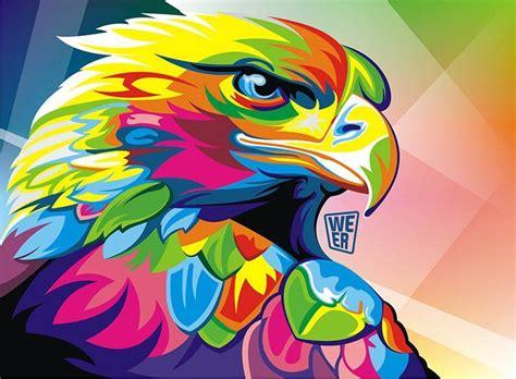 pop art a colourful coloridas ilustraciones vectoriales de animales por wahyu romdhoni creadictos
