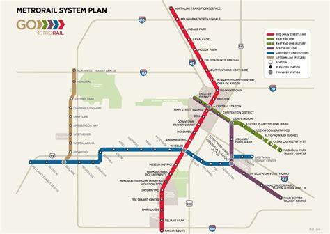 houston light rail map can houston learn to light rail citylab