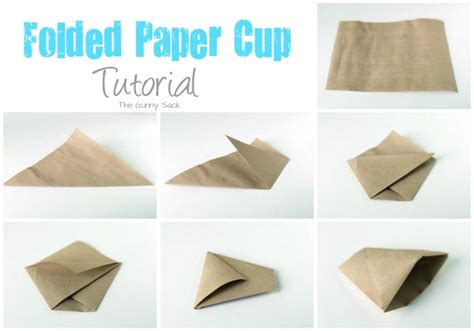 How To Make Paper Cups - brown sugar cinnamon kettle corn recipe