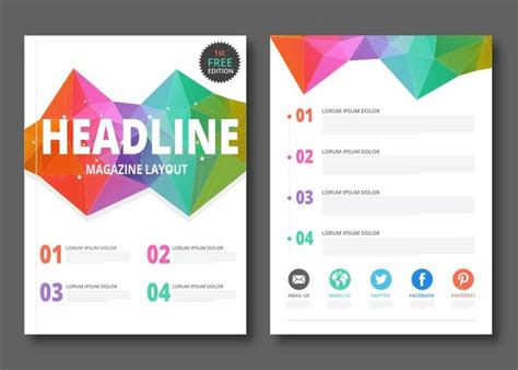 layout free vector download free geometric magazine layout vector download free