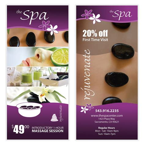 templates for massage flyers spa massage flyer template 05