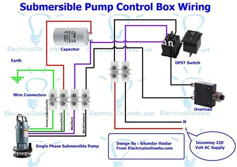 single phase 3 wire submersible wiring diagram