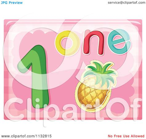 clipart word of the word number one and a pineapple royalty