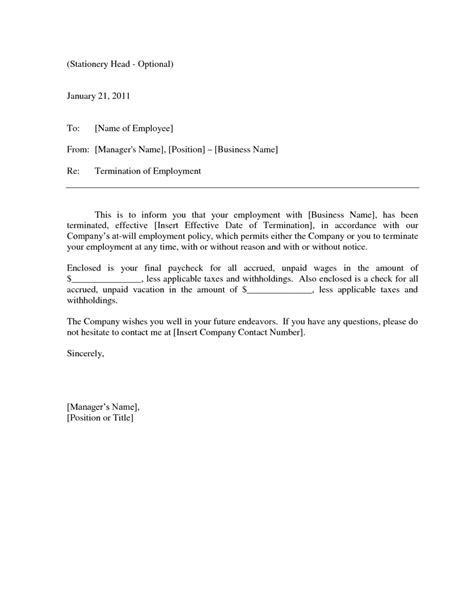 employment termination letter template uk copy 19 awesome contract