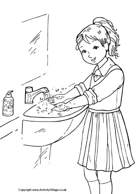 washing coloring sheet wash your coloring page washing