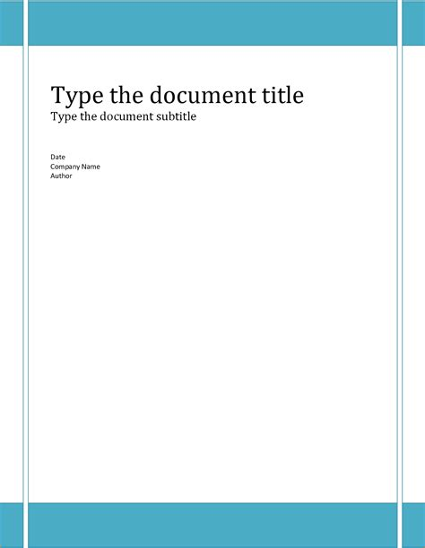 Report Cover Page Template Word Free 6 Report Cover Page Template Printable Receipt