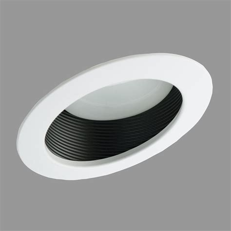 sloped ceiling recessed lighting trim nicor lighting 177 6 in sloped ceiling baffle recessed