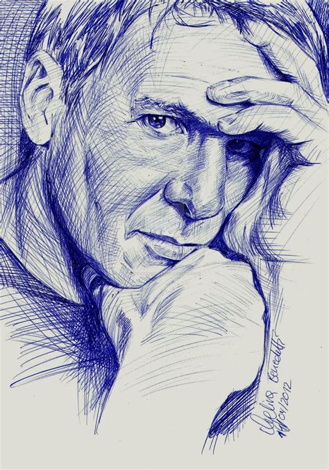 Drawing W Pen by Harrison Ford Ballpoint Pen By Angelinabenedetti On Deviantart