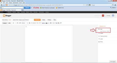 cara membuat entri blog cara membuat label di blog sederhana