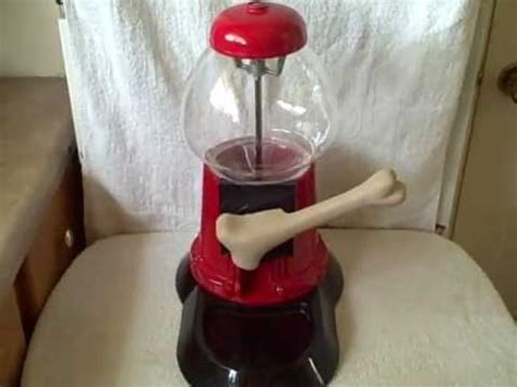 treat dispenser with yuppy puppy treat dispenser gumball machine size collectible used