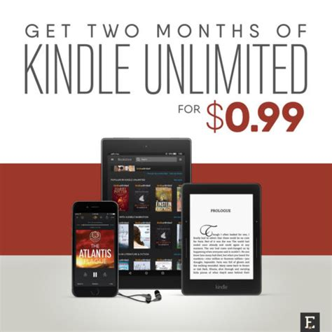 deal get two months of kindle unlimited