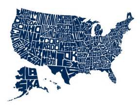 graphic map of us stately type handlettered us map graphic design logos