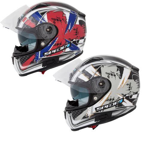 Mofa Helm by Spada Arc Patriot Englische Flagge Grafik Motorrad Roller
