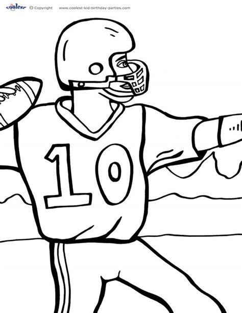 Printable Football Coloring Page 3 Coolest Free Printables Printable Football Coloring Pages