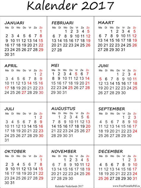Etiketten Uitprinten Excel by Kalender 2017 Afdrukken Gratis Printbare Pdf