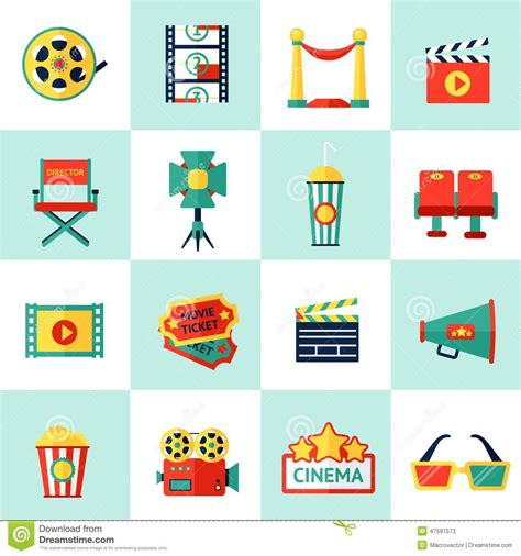 Icon Cinema Gift Card - cinema icon set stock vector image 47597573