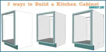 schrank aufbauen three ways to build a basic kitchen cabinet sawdust 174
